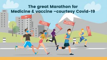 The great Marathon for Medicine & vaccine –courtesy Covid-19