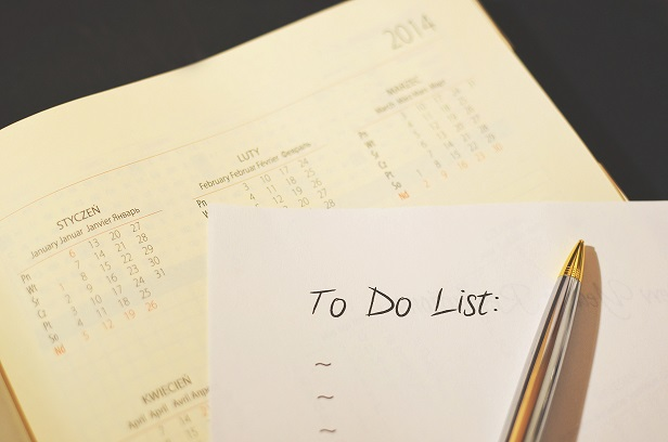 A to-do list.